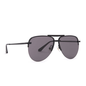 Tahoe sunglasses with black frames and grey lens angle view