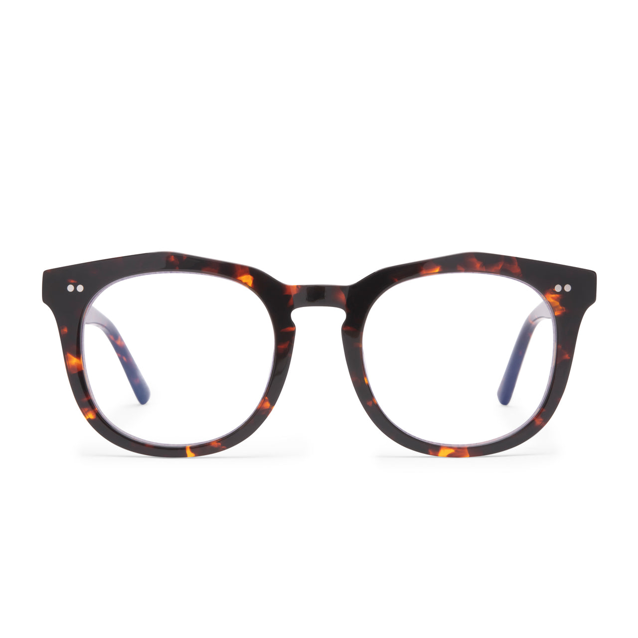 weston dark tortoise and prescription lens front