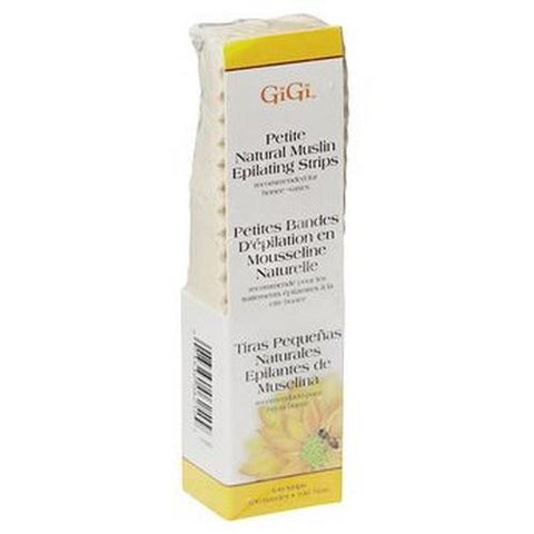 GiGi - Natural Muslin Wax Strips Petite - 100 Pack