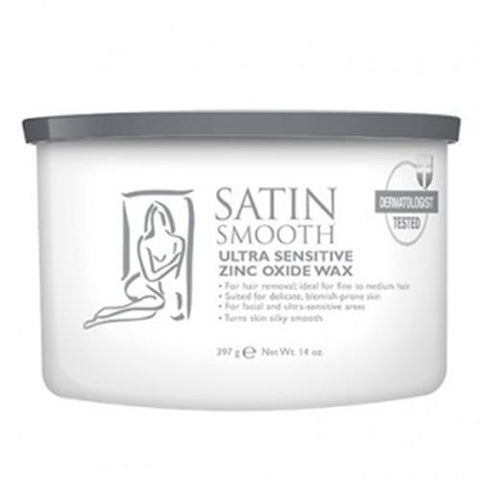 Satin Smooth - Soft Wax Ultra Sensitive Zinc - 14oz