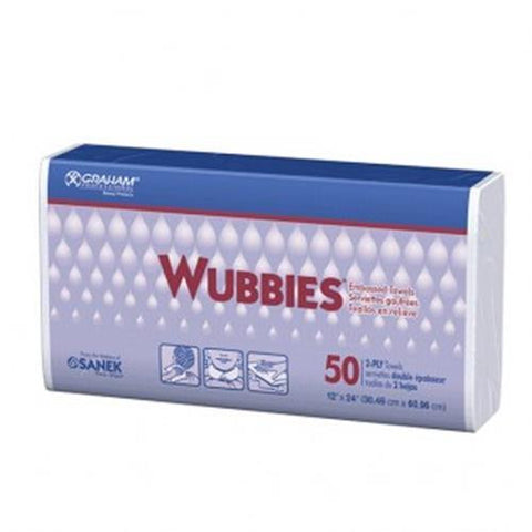 Wubbies - Embossed Towel - 50 Pack