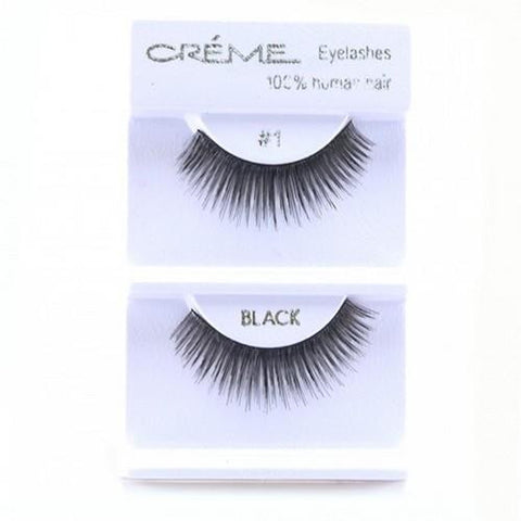 Creme Strip Lashes - #1 - 1 Pair