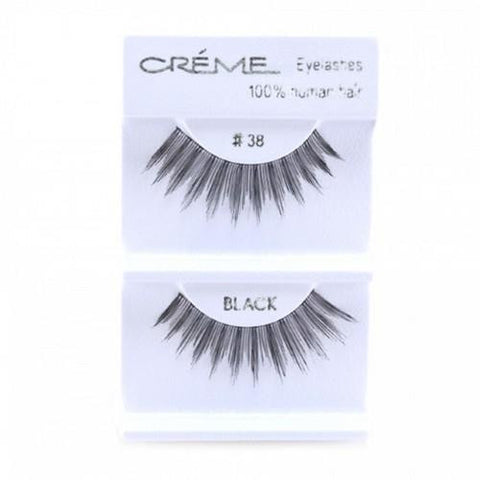 Creme Strip Lashes - #38 - 1 Pair