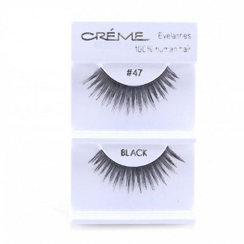 Creme Strip Lashes - #47 - 1 Pair