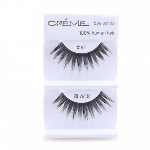 Creme Strip Lashes - #61 - 1 Pair