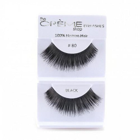 Creme Strip Lashes - #80 - 1 Pair