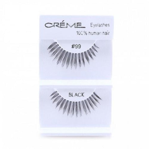 Creme Strip Lashes - #99 - 1 Pair