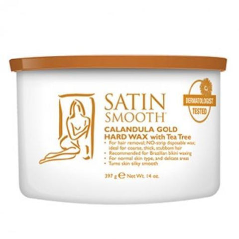 Satin Smooth - Hard Wax Calandula Gold - 14oz