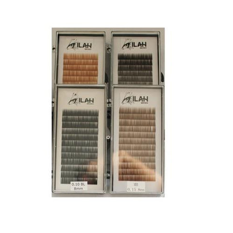 Ilah - Brow Extensions - Black .10 Mix 5-7mm