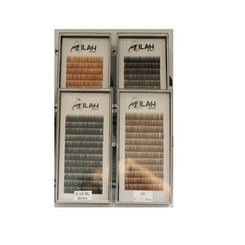 Ilah - Brow Extensions - Medium Brown .15 Mix 5-7mm