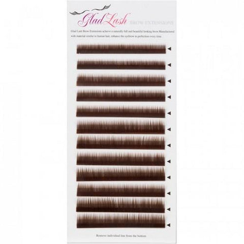 Glad Lash - Brow Extensions 5mm-8mm - Dark Brown