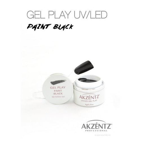 Akzentz - Gel Play Black - 4g