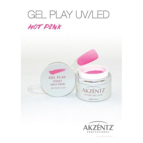 Akzentz - Gel Play Hot Pink - 4g
