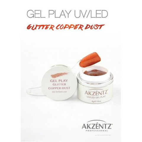 Akzentz - Gel Play Glitter Copper Dust - 4g