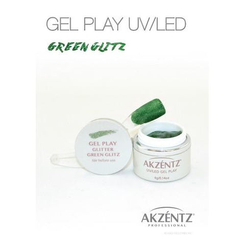 Akzentz - Gel Play Glitter Green Glitz - 4g