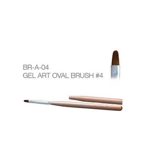Akzentz - Gel Art Oval Brush - #04