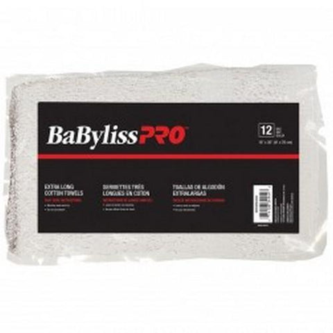 BaByliss Pro - Standard White Towel - Bag of 12