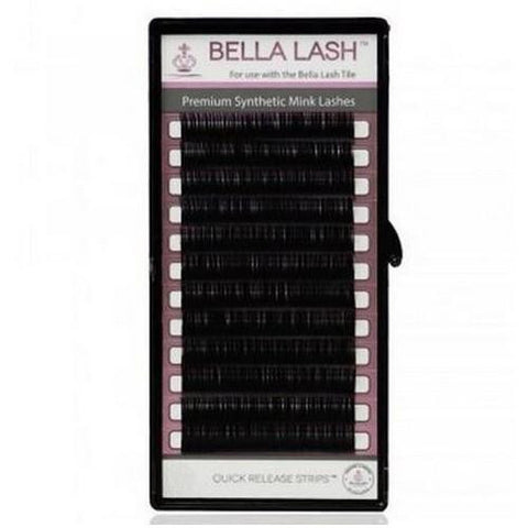 Bella - Lash Extensions Volume D-Curl Mink - 0.07 Medium Mix Tray (11-13mm)