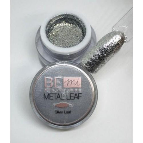 BEmi Beauty Box - Silver Metal Leaf Gel - 5mL