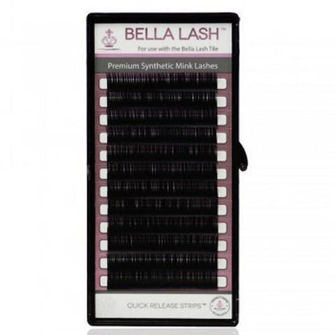 Bella - Lash Extensions C-Curl Mink - 0.20 Large Mix Tray (13-15mm)