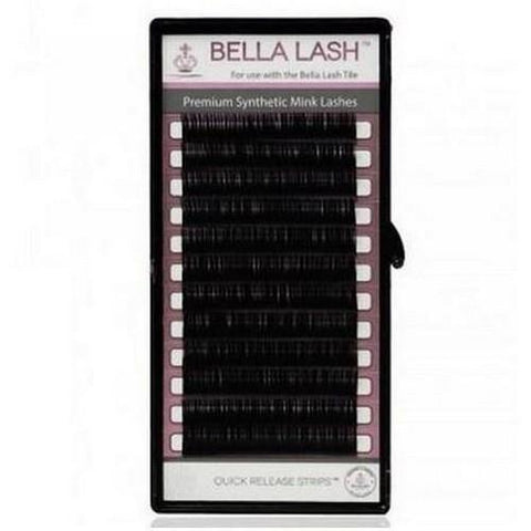 Bella - Lash Extensions Volume D-Curl Mink - 0.03 Medium Mix Tray (11-13mm)