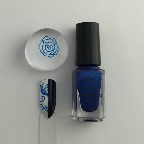 Clear Jelly Stamper - #32 Blue Right On By - 5ml