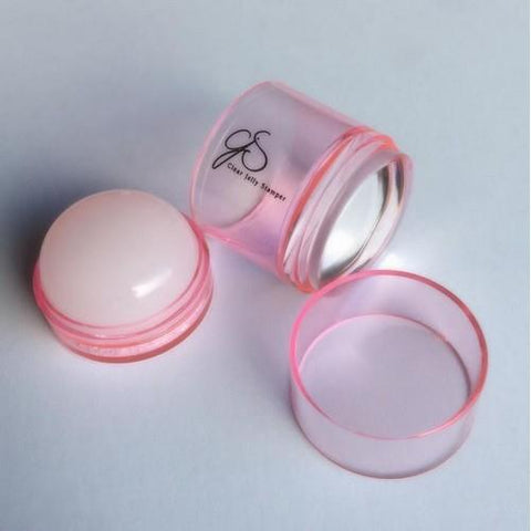 Clear Jelly Stamper - Big Bling - Pink