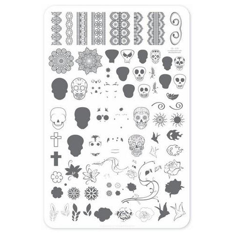 Clear Jelly Stamper - Dark Eyes - Stamping Plates