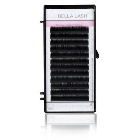 Bella - Lash Extensions Volume C-Curl Mink - 0.06 Medium Mix Tray (11-13mm)
