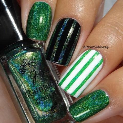 Clear Jelly Stamper - #H1 Holographic Green - 5ml