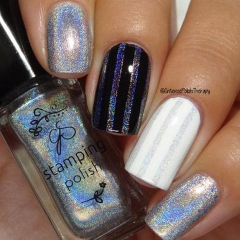 Clear Jelly Stamper - #H3 Holographic Silver - 5ml