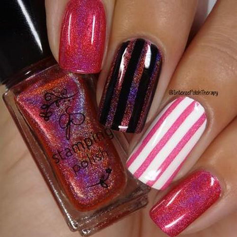 Clear Jelly Stamper - #H4 Holographic Pink - 5ml