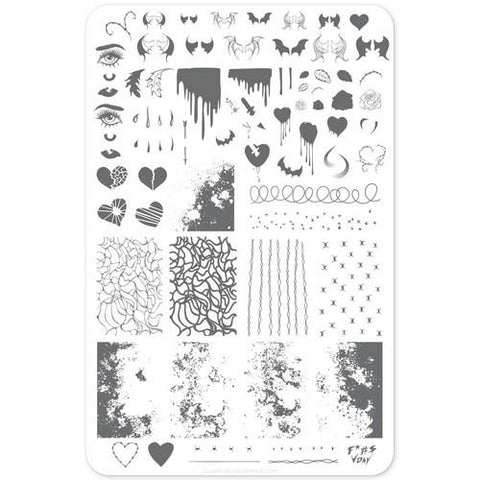 Cleary Jelly Stamper - Dark Heart - Stamping Plate