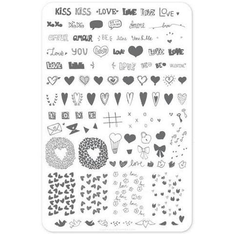 Clear Jelly Stamper - Love Notes - Stamping Plate