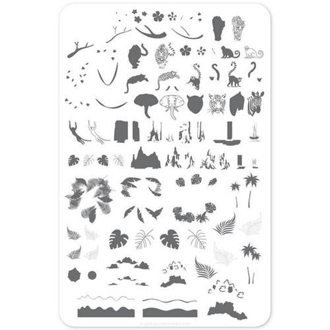 Clear Jelly Stamper - Suzie's Welcome To The Jungle - Stamping Plate