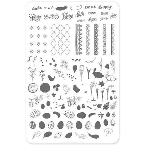 Clear Jelly Stamper - Bunny Kisses - Stamping Plate