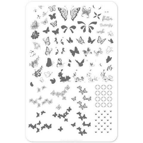 Clear Jelly Stamper - Butterfly Wishes - Stamping Plate