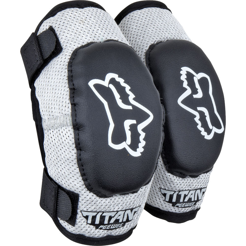 Protection: FOX PEEWEE TITAN Elbow Guard Black/Silver