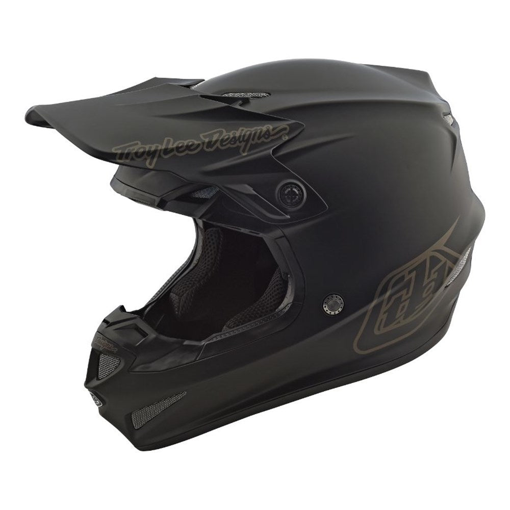 Helmet: TROY LEE DESIGNS 2021 Youth SE4 POLY MIDNIGHT Black