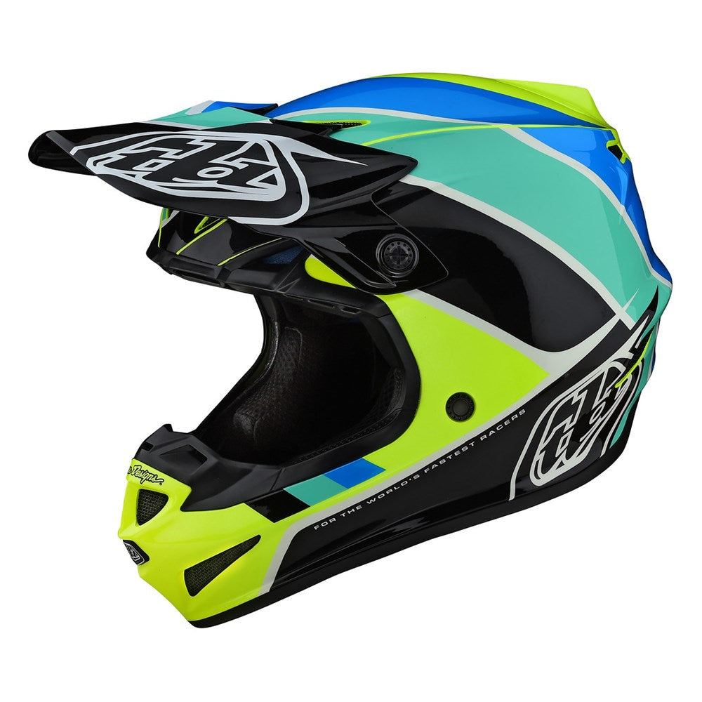 Helmet: TROY LEE DESIGNS 2021 Youth SE4 POLY BETA Yellow/Black