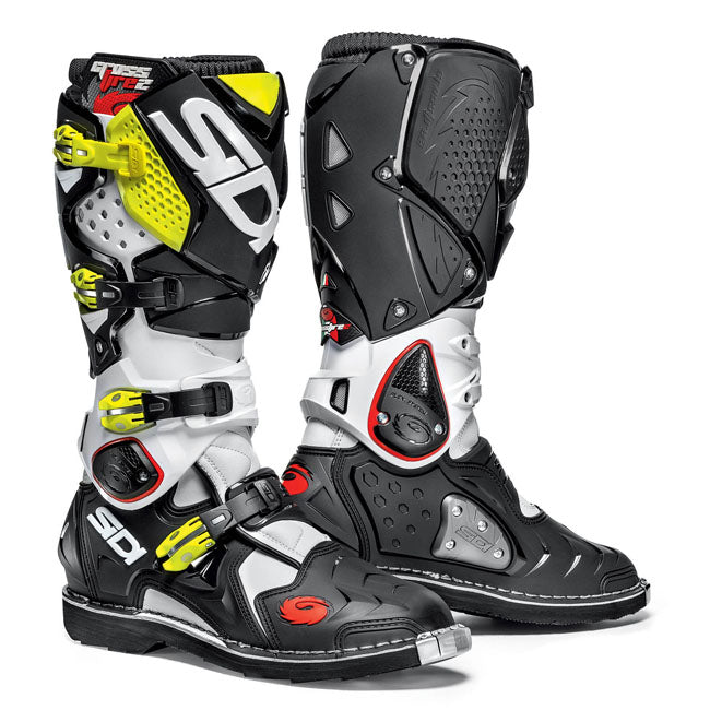 Boots: SIDI CROSSFIRE 2 White/Blk/Yellow