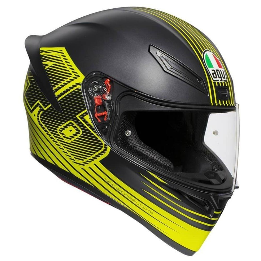 Helmet: AGV K-1 EDGE Black/Yellow