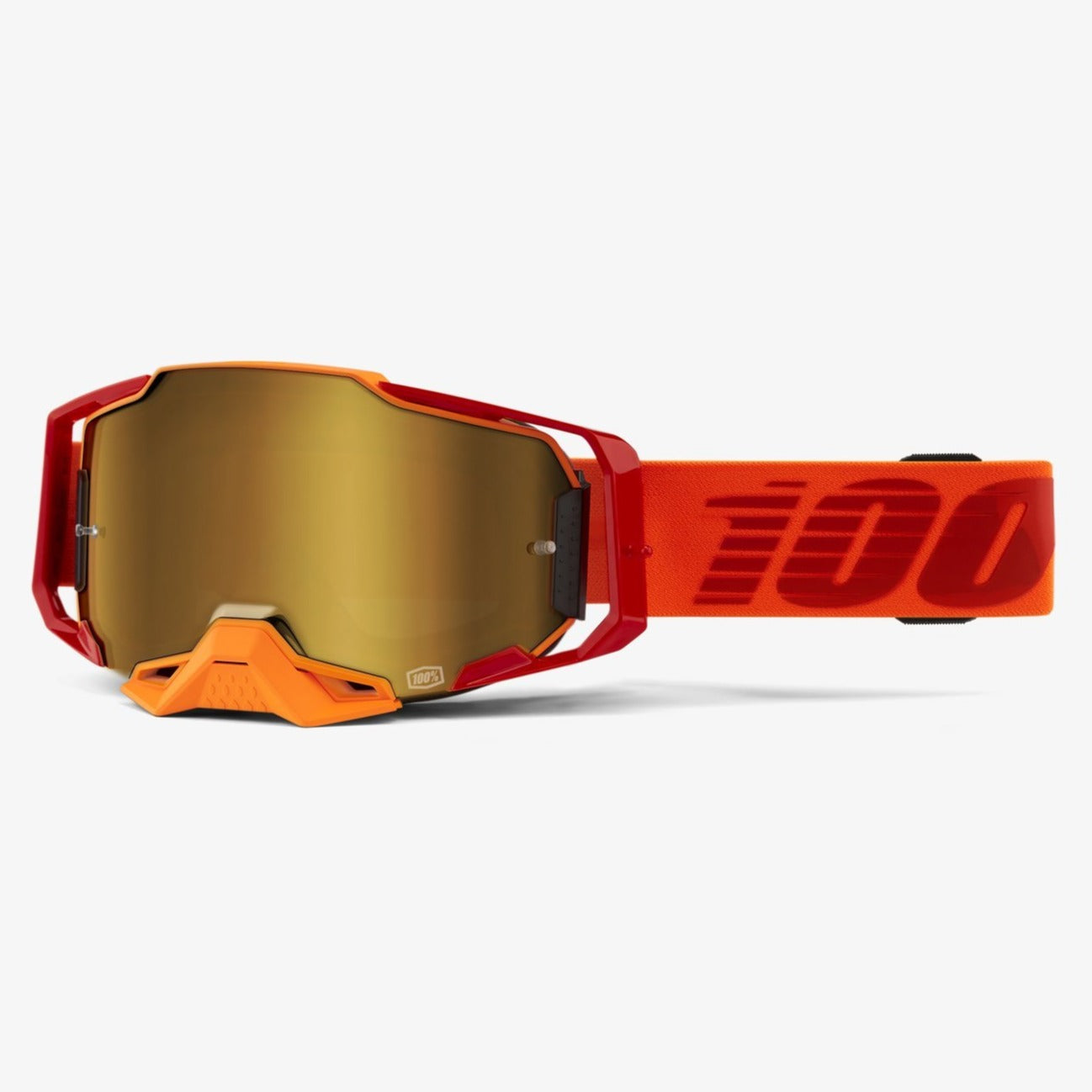 Goggles: 100% ARMEGA LITKIT Gold flash Mirror