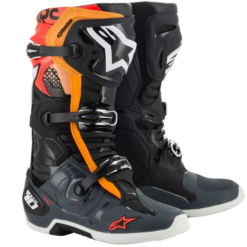 Boots: ALPINESTARS TECH 10 Black/Grey/Org/FRed