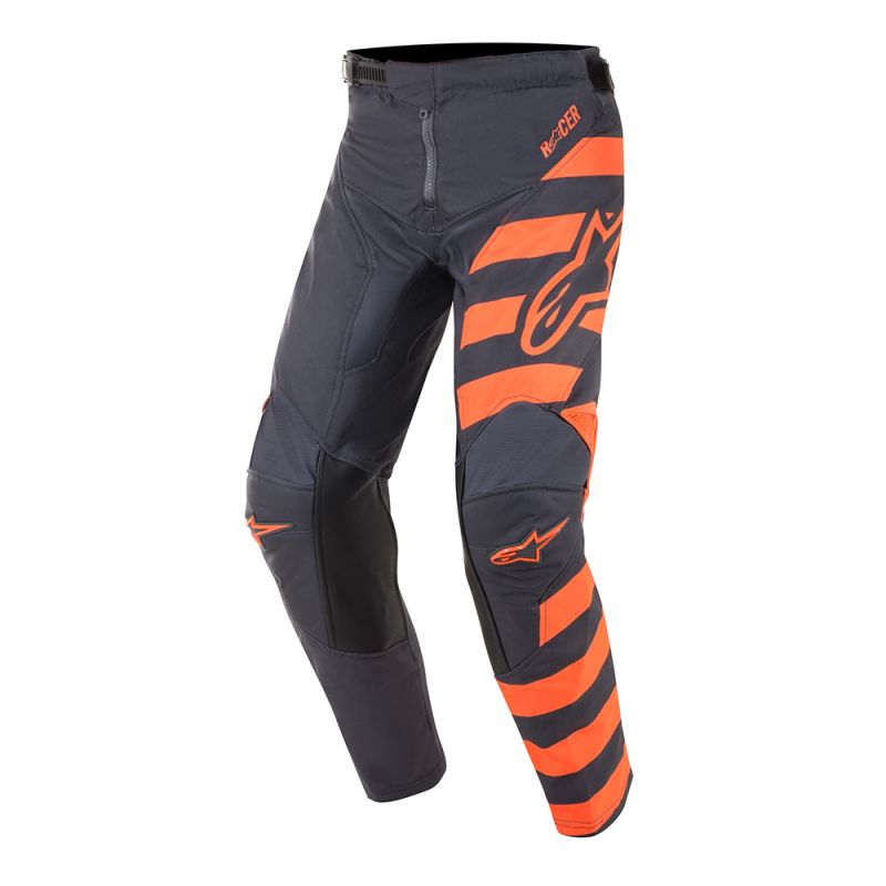 Pants: ALPINESTARS 2019 Youth RACER BRAAP Anth/FluroOrange