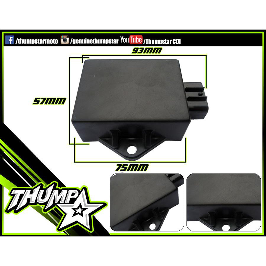Electrical: THUMPSTAR CDI 8 PIN RACE Black