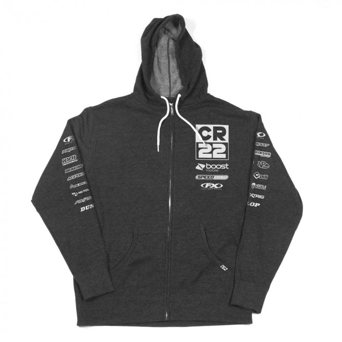 Hoodie: FACTORY EFFEX CR22 TEAM Zip Up Heather