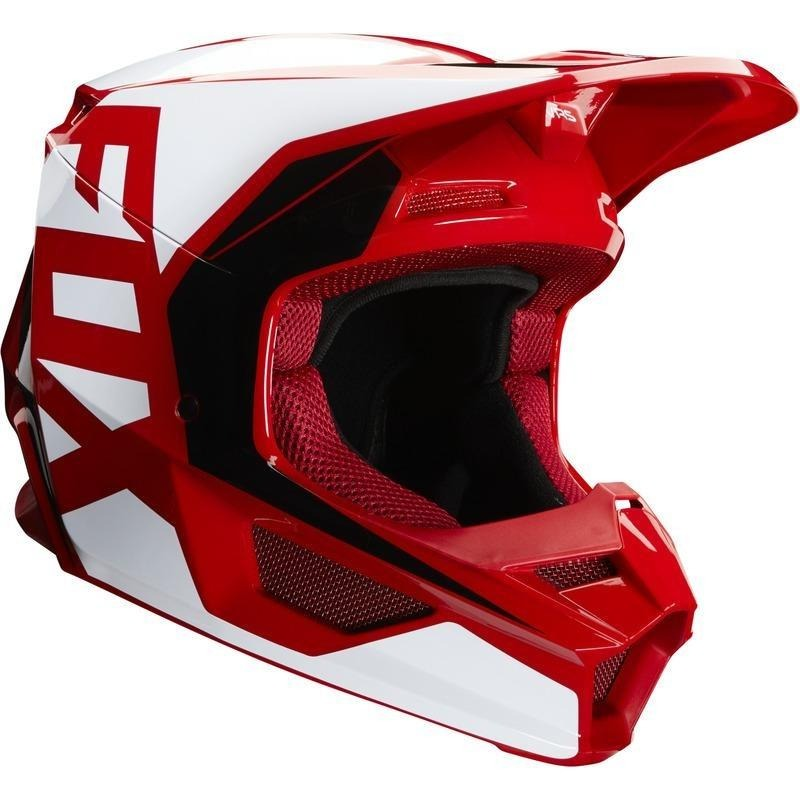Helmet: FOX 2020 Youth V1 ECE PRIX Flame Red