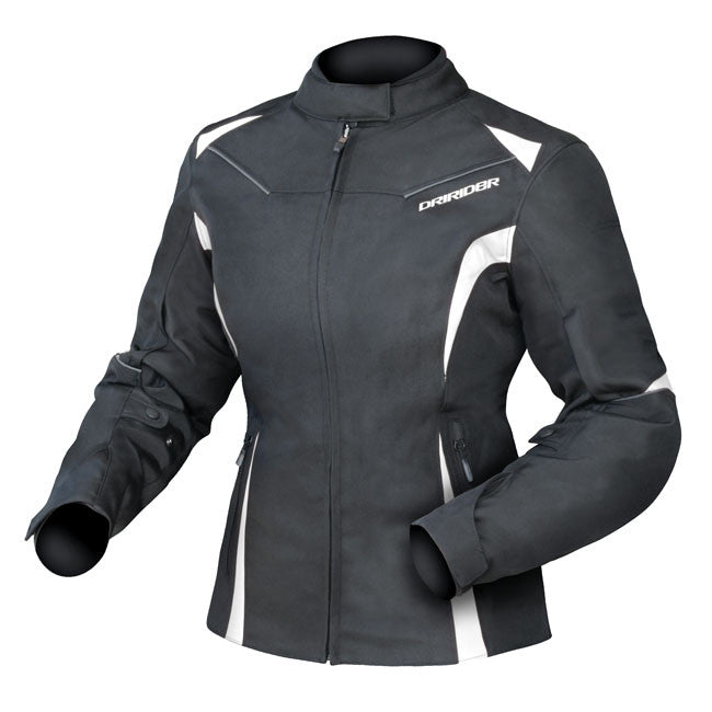 Jacket: DRIRIDER Ladies JEWEL 2 AIR Black/White