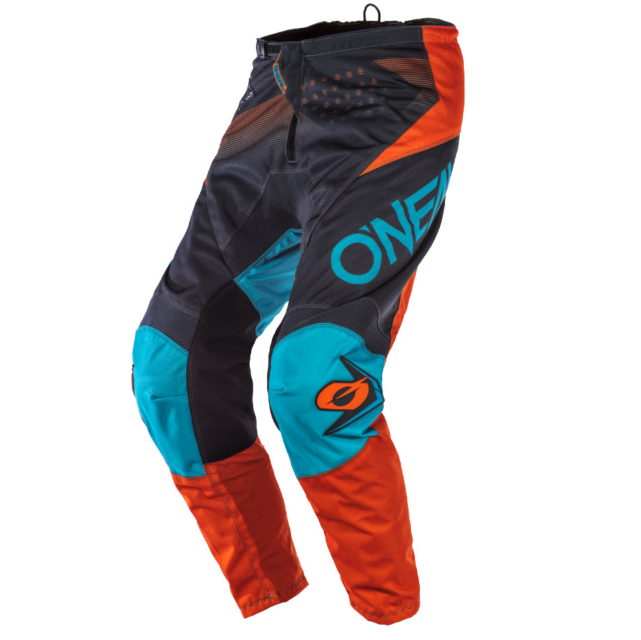 Pants: ONEAL 2020 YOUTH ELEMENT FACTOR Grey/Orange/Blue